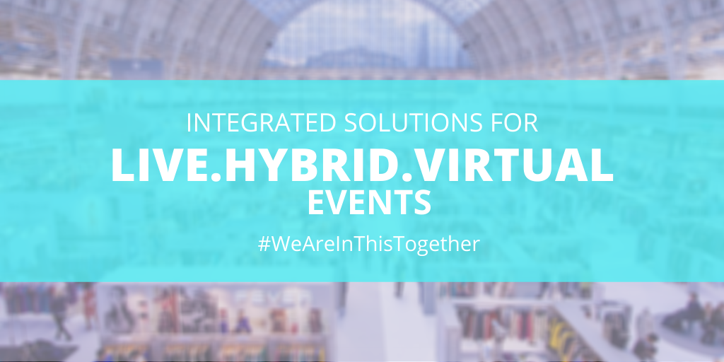 integrated solutions for live, hybrid, virtual events